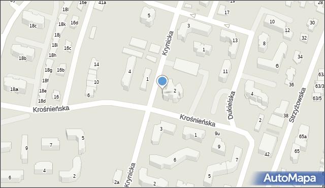 Rzeszów, Krośnieńska, 2u, mapa Rzeszów