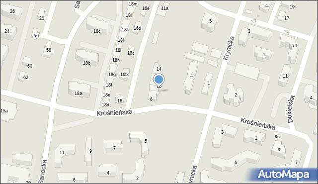 Rzeszów, Krośnieńska, 8, mapa Rzeszów