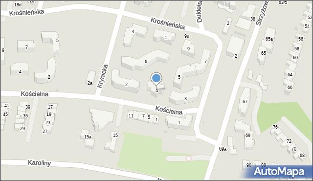 Rzeszów, Krynicka, 4, mapa Rzeszów
