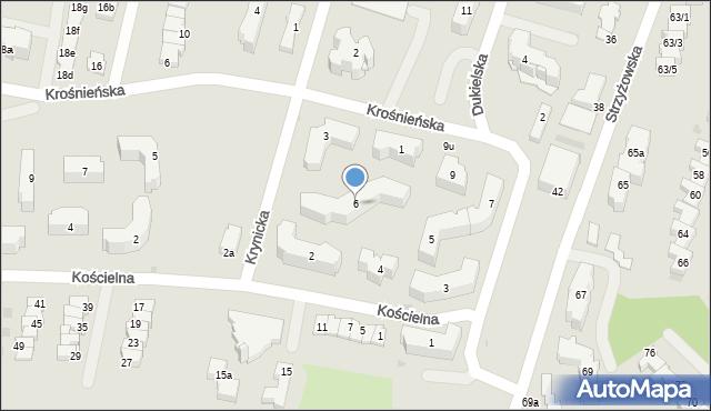Rzeszów, Krynicka, 6, mapa Rzeszów