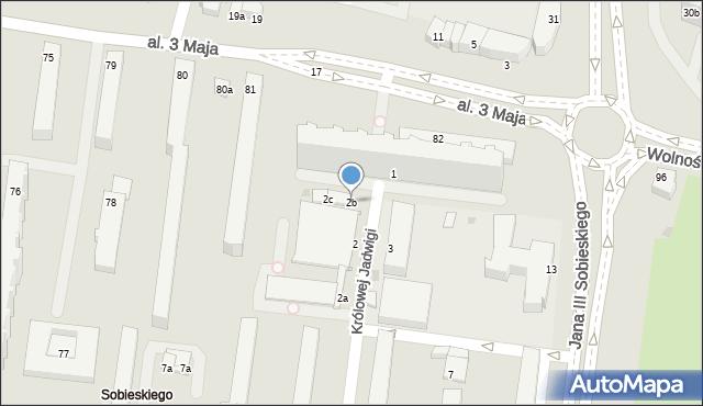 Słupsk, Królowej Jadwigi, 2b, mapa Słupska