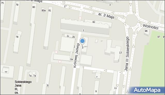 Słupsk, Królowej Jadwigi, 3, mapa Słupska