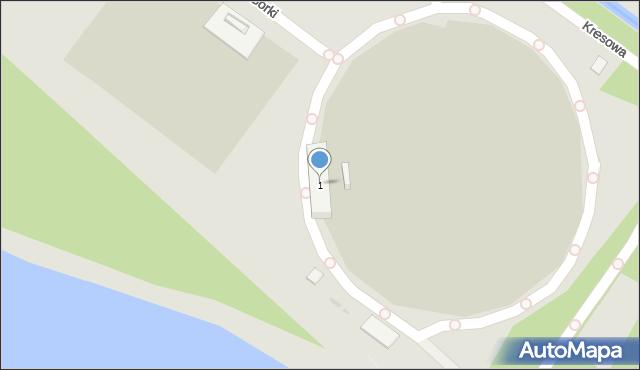 Sosnowiec, Kresowa, 1, mapa Sosnowca
