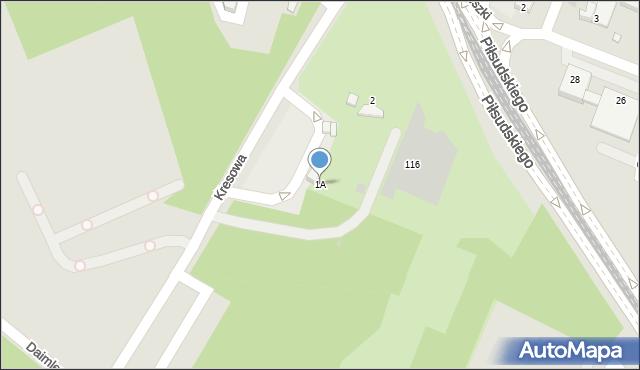 Sosnowiec, Kresowa, 1A, mapa Sosnowca
