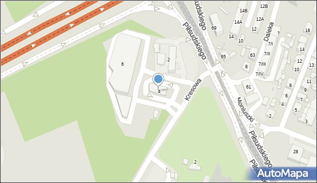 Sosnowiec, Kresowa, 4, mapa Sosnowca
