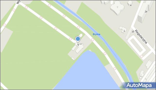 Sosnowiec, Kresowa, 5/7A, mapa Sosnowca