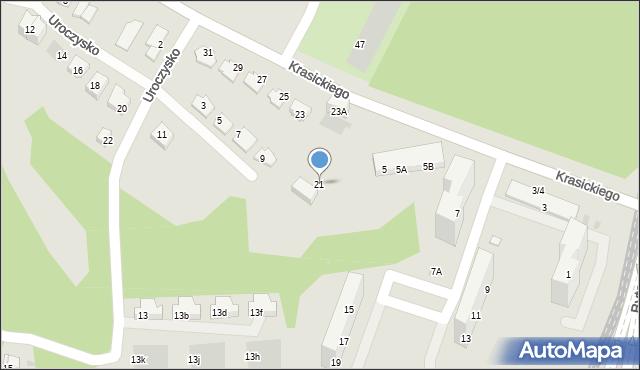 Świętochłowice, Krasickiego Ignacego, bp., 21, mapa Świętochłowice