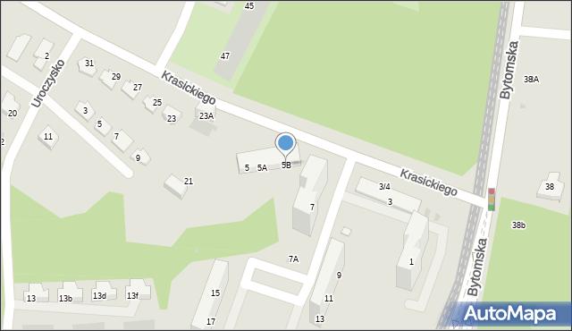 Świętochłowice, Krasickiego Ignacego, bp., 5B, mapa Świętochłowice