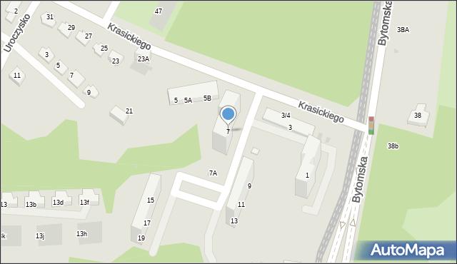 Świętochłowice, Krasickiego Ignacego, bp., 7, mapa Świętochłowice