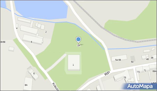 Świętochłowice, Krauzego Juliusza, 1A, mapa Świętochłowice