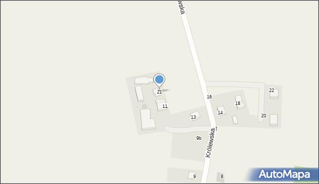 Sychowo, Królewska, 21, mapa Sychowo