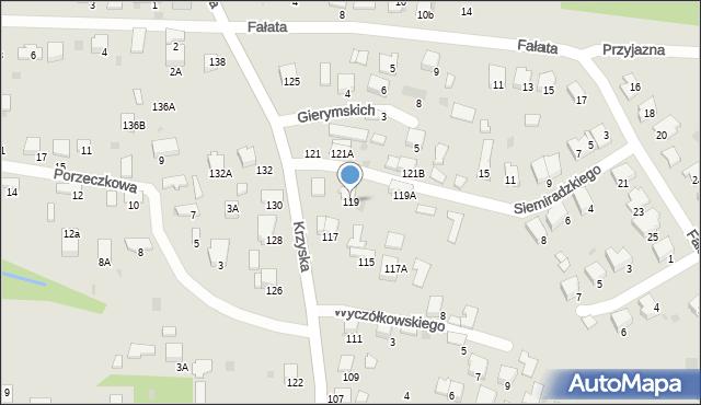 Tarnów, Krzyska, 119, mapa Tarnów