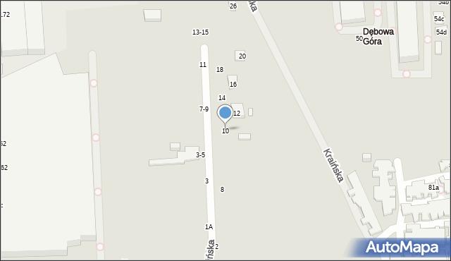 Toruń, Kraińska, 10, mapa Torunia