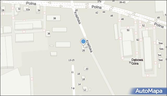 Toruń, Kraińska, 83a, mapa Torunia