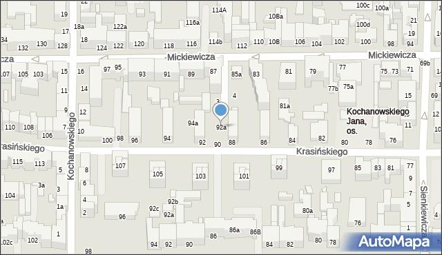 Toruń, Krasińskiego Zygmunta, 92a, mapa Torunia
