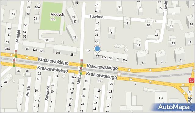 Toruń, Kraszewskiego Józefa Ignacego, 22, mapa Torunia