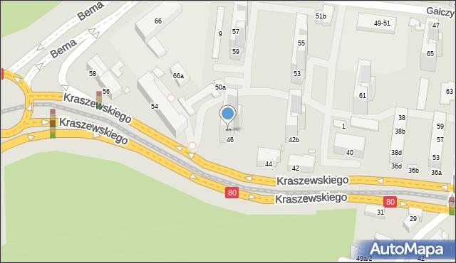 Toruń, Kraszewskiego Józefa Ignacego, 48, mapa Torunia