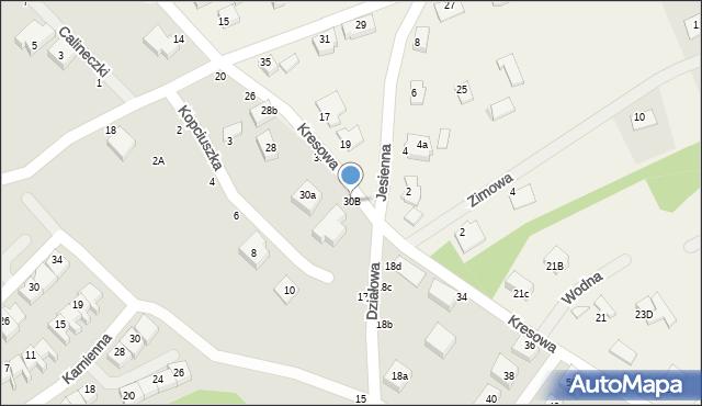 Toruń, Kresowa, 30B, mapa Torunia