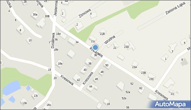 Toruń, Kresowa, 36, mapa Torunia