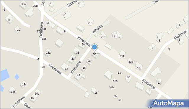 Toruń, Kresowa, 50, mapa Torunia