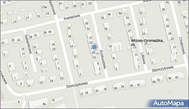 Toruń, Krokusowa, 13, mapa Torunia