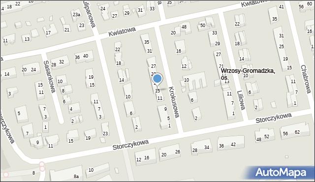 Toruń, Krokusowa, 15, mapa Torunia