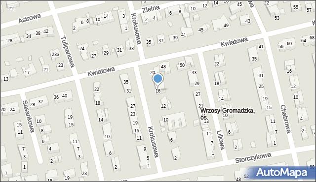 Toruń, Krokusowa, 16, mapa Torunia