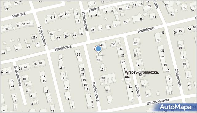 Toruń, Krokusowa, 18, mapa Torunia