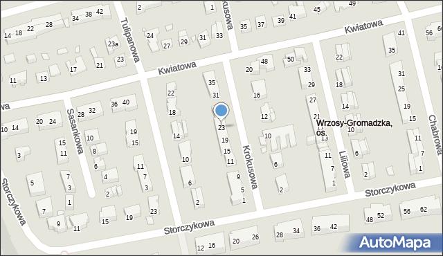 Toruń, Krokusowa, 23, mapa Torunia