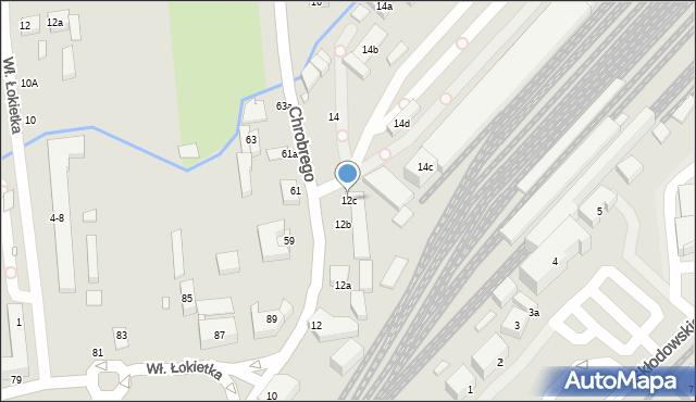 Toruń, Króla Bolesława Chrobrego, 12c, mapa Torunia