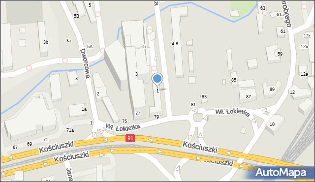 Toruń, Króla Władysława Łokietka, 1, mapa Torunia