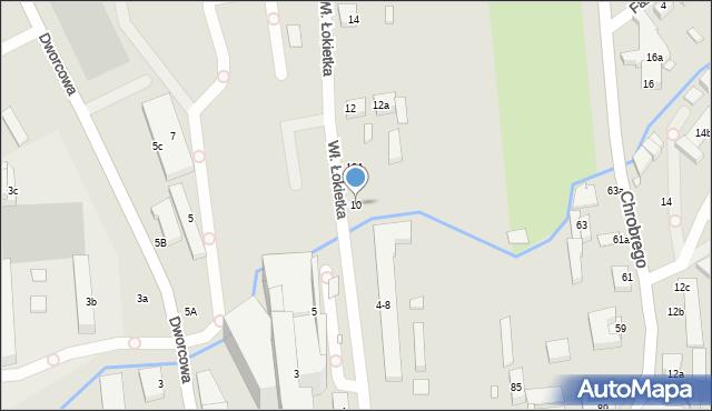 Toruń, Króla Władysława Łokietka, 10, mapa Torunia