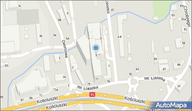 Toruń, Króla Władysława Łokietka, 3, mapa Torunia