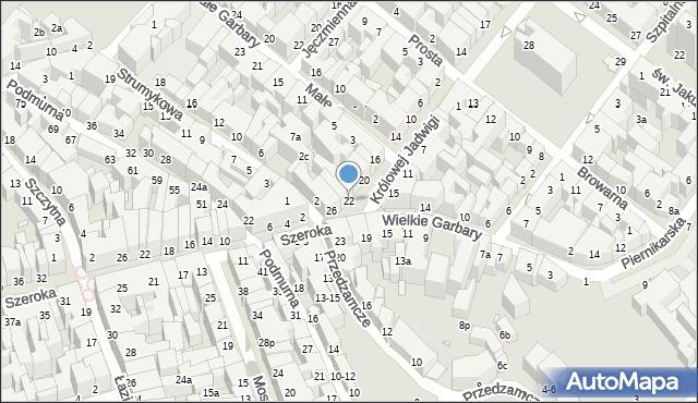 Toruń, Królowej Jadwigi, 22, mapa Torunia