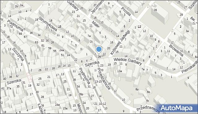 Toruń, Królowej Jadwigi, 26, mapa Torunia