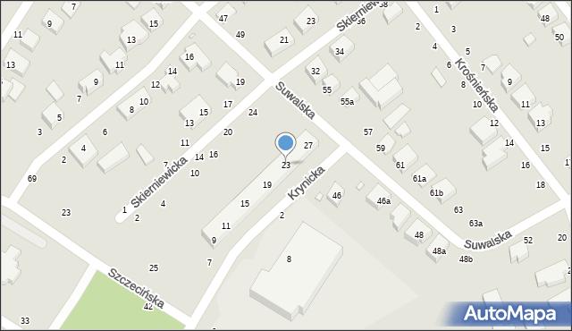 Toruń, Krynicka, 23, mapa Torunia