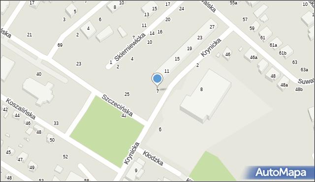 Toruń, Krynicka, 5, mapa Torunia
