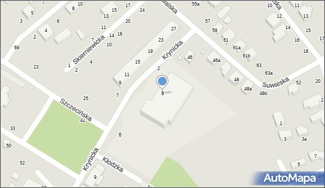Toruń, Krynicka, 8, mapa Torunia