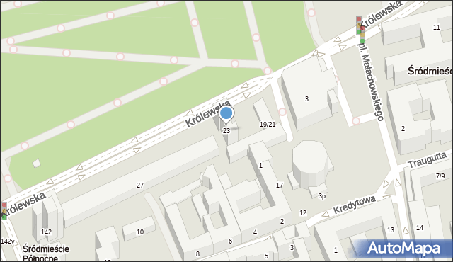 Warszawa, Królewska, 23, mapa Warszawy