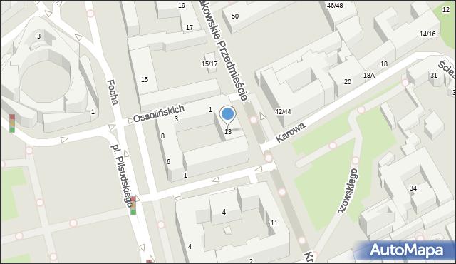 Warszawa, Krakowskie Przedmieście, 13, mapa Warszawy