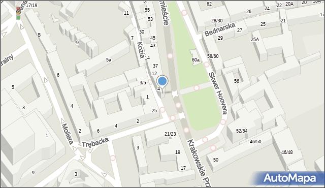 Warszawa, Krakowskie Przedmieście, 27, mapa Warszawy