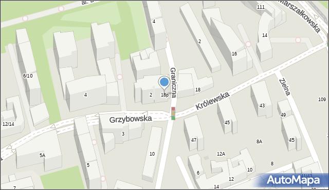 Warszawa, Królewska, 18p, mapa Warszawy