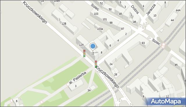 Warszawa, Kruczkowskiego Leona, 12, mapa Warszawy
