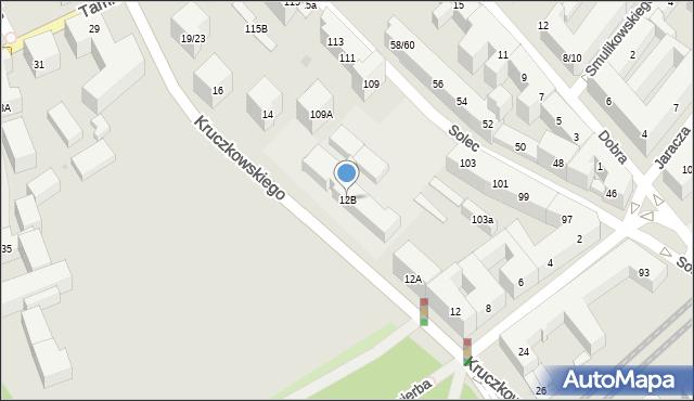 Warszawa, Kruczkowskiego Leona, 12B, mapa Warszawy
