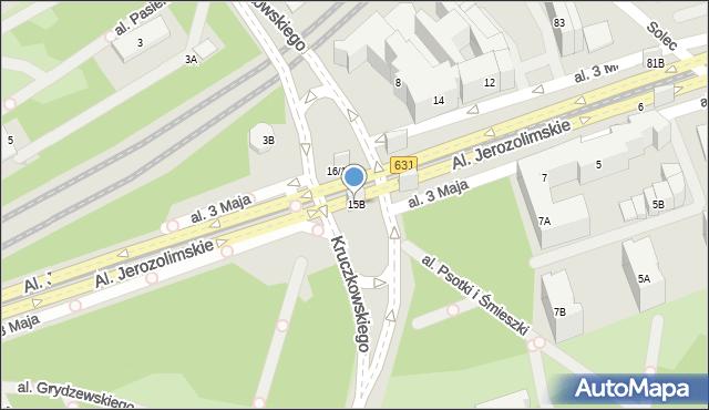 Warszawa, Kruczkowskiego Leona, 15B, mapa Warszawy