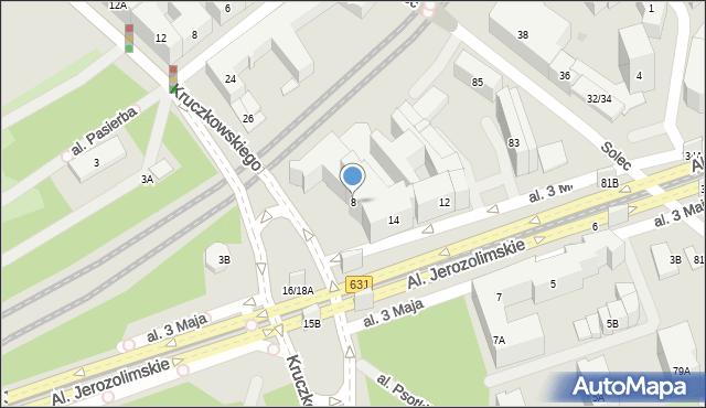 Warszawa, Kruczkowskiego Leona, 8, mapa Warszawy