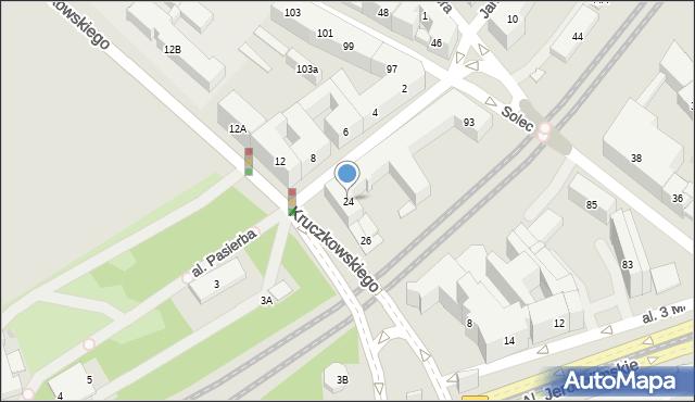 Warszawa, Kruczkowskiego Leona, 24, mapa Warszawy