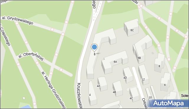 Warszawa, Kruczkowskiego Leona, 6, mapa Warszawy
