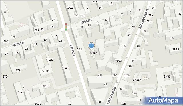 Warszawa, Krucza, 6/14B, mapa Warszawy