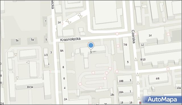 Warszawa, Krasnołęcka, 3, mapa Warszawy